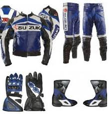 motorcycle gear boots arrow new suzuki rgsx motorcycle leather complete suit jacket