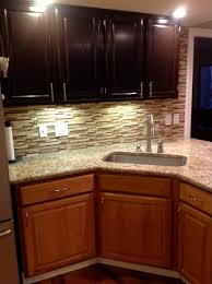 Golden Oak Kitchen Cabinets by Gel Staining My Kitchen The Bottom Is The Old Golden Oak And The