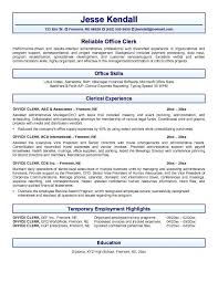 cover letter sample entry level accounting clerk in for law