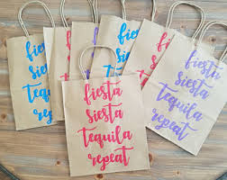 bachelorette gift bags siesta tequila repeat bridesmaid bachelorette party