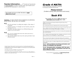 measurement problem solving with perimeters and areas page 11