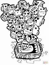 soap bubbles doodle coloring free printable coloring pages