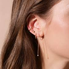 threader earrings tiny diamond threader earring and strand
