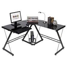 Glass And Metal Corner Computer Desk Multiple Colors Computer Desk Desks Target