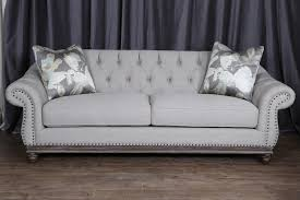 Tufted Rolled Arm Sofa Magnussen Home Victoria Traditional Button Tufted Sofa With Flared