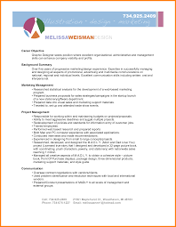Marketing Objective Resume Unique Resume Objective Examples Augustais
