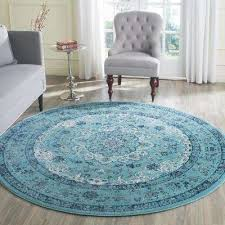 Powder Blue Area Rug Round Turquoise Area Rugs Intended For The Home Depot Decor 7 4 Ft