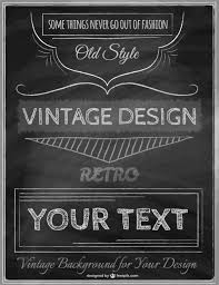 vintage poster template vector free download