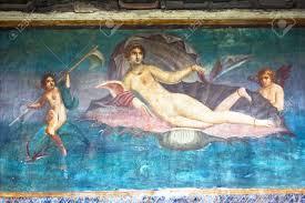 roman wall painting venus in pompeii italy stock photo picture roman wall painting venus in pompeii italy stock photo 4682479