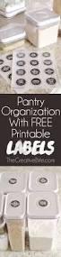 kitchen pantry organization free printable labels free