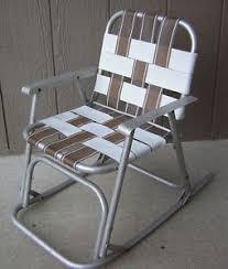 Vintage Aluminum Folding Chairs Vintage Aluminum Rocker Kids Folding Rocking Childs Lawn Chair