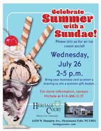Ice Cream Gift Basket Heritage Court Ice Cream Social Heritage Senior Living
