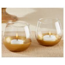 gold dipped 12ct glass votive holder gold dipped kate aspen target