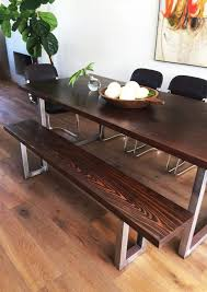 diy dining table bench diy modern dining table and modern bench design intervention diary