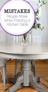 Antique Dining Table Updated With Chalk Paint Antique Dining - Painting a kitchen table