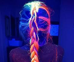 glow in the in the hair dye
