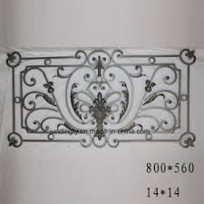 wrought iron components for ornamental iron gate railing and