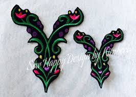 inspired by anna u0027s dress detail embroidery design iron on