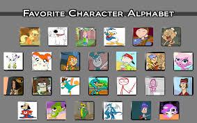 Alphabet Meme - my favorite characters alphabet meme by cartoonstar99 on deviantart