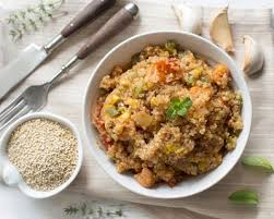 cuisiner quinoa recette risotto de quinoa au lait de coco et légumes