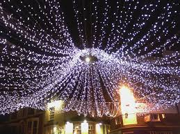 file full moon through christmas lights in january geograph org
