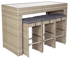 Masters Bar Table Finlay And Smith Pacific Wicker 7 Piece Bar Setting Contemporary