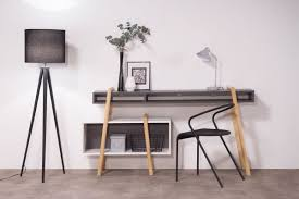 Modern Desk White by Wood Tang White And Grey Modern Desk Composition 3 Miliboo