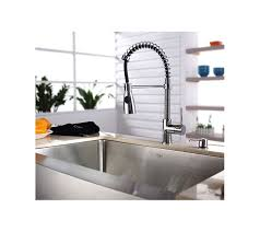 kraus commercial pre rinse chrome kitchen faucet faucet com kpf 1612 ksd 30ch in chrome by kraus