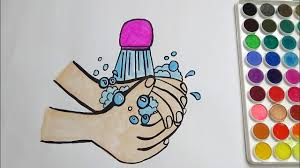 hand wash coloring page for kids youtube
