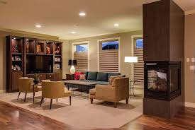 Levolor Roman Shades - modern great room with built in bookshelf by todays blinds