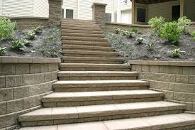interesting front yard using simple retaining wall ideas and stone