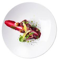 composition cuisine creative flow salad haute cuisine isolated beets mushroo
