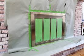 Polished Brass Fireplace Doors by How To Spray Paint A Brass Fireplace Bright Green Door