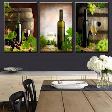aliexpress com buy 3 pcs set modern spray canvas painting wine