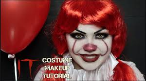 Pennywise Halloween Costume Pennywise Costume Makeup Tutorial Pennywise Eso Tutorial