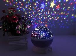 Moon Light For Bedroom by Star Projector Galaxy Nightlight Starry Projection Lamp Space