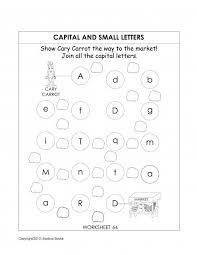 printable kindergarten worksheet recognising upper case capital