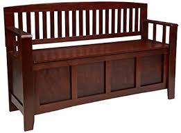 linon home decor products amazon com linon home decor cynthia storage bench kitchen dining
