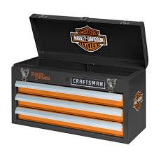 craftsman harley davidson 3 drawer portable tool chest shop
