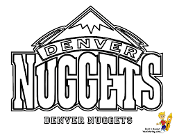 nuggets football team logos basketball coloring pages sports