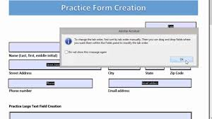 Count Calculation In Adobe Acrobat Forms Editting Form Field Tab Order In Adobe Acrobat Pro