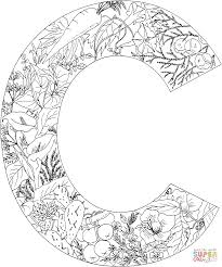 letter c with plants coloring page free printable coloring pages