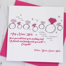 engagement greeting card engagement wishes greeting card name write profile