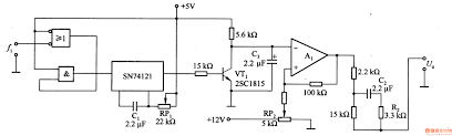 circuits frequency voltage conversion circuit composed of sn74121