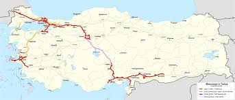 ankara on world map list of otoyol routes in turkey