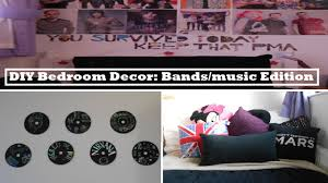 Diy Bedroom Decor by Diy Bedroom Decor Bands Music Edition Youtube