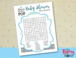 baby shower word search about to pop baby shower games