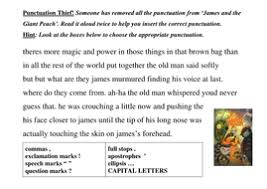 add punctuation to a text by lathburg teaching resources tes