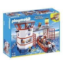 Amazon Playmobil Esszimmer Playmobil City Action Küstenwachstation Mit Leuchtturm 5539