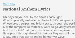 Star Light Star Bright Lyrics National Anthem